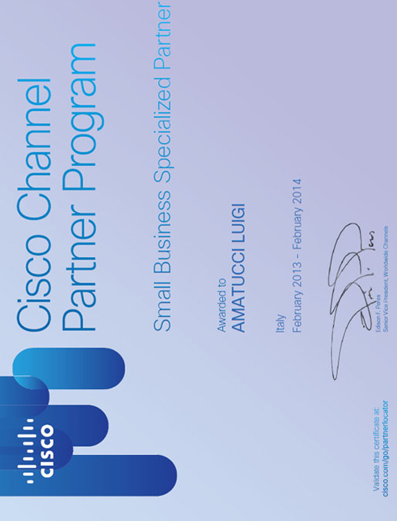 Certificato Cisco Small Business